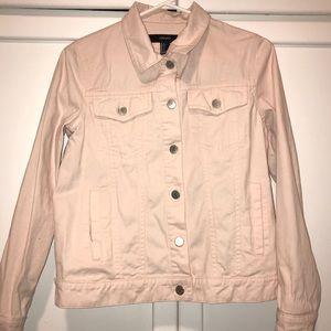 Women's Light Pink Jean Jacket